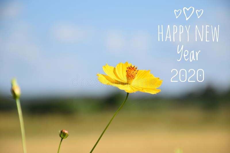 Happy New Year 2020. Card royalty free stock image